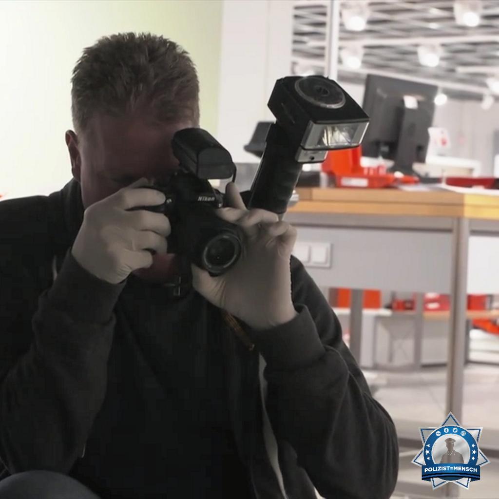 """""""All unsere Spurensuchen, -sicherungen und Fotodokumentationen tragen zu einem runden Vorgang bei. Da unser Gegenüber keine Pausen kennt, tun wir das natürlich rund um die Uhr. Grüße von der Kriminalpolizei Hannover, Tim"""""""