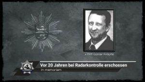 In memoriam: Vor 20 Jahren bei Radarkontrolle erschossen