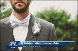 Anzug im Zug vergessen: Polizisten retten Hochzeitsfeier