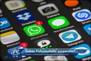 Frauen- und ausländerfeindlicher Gruppenchat: Sieben Polizeischüler suspendiert