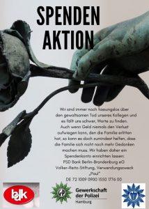 In Hamburg verstorbener Zielfahnder: Spendenkonto eingerichtet