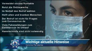 Corona-Pandemie: Wichtige aktuelle Hinweise