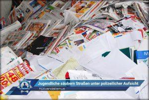 Müllvandalismus: Jugendliche säubern Straßen unter polizeilicher Aufsicht