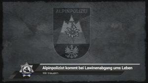 Wir trauern: Alpinpolizist kommt bei Lawinenabgang ums Leben
