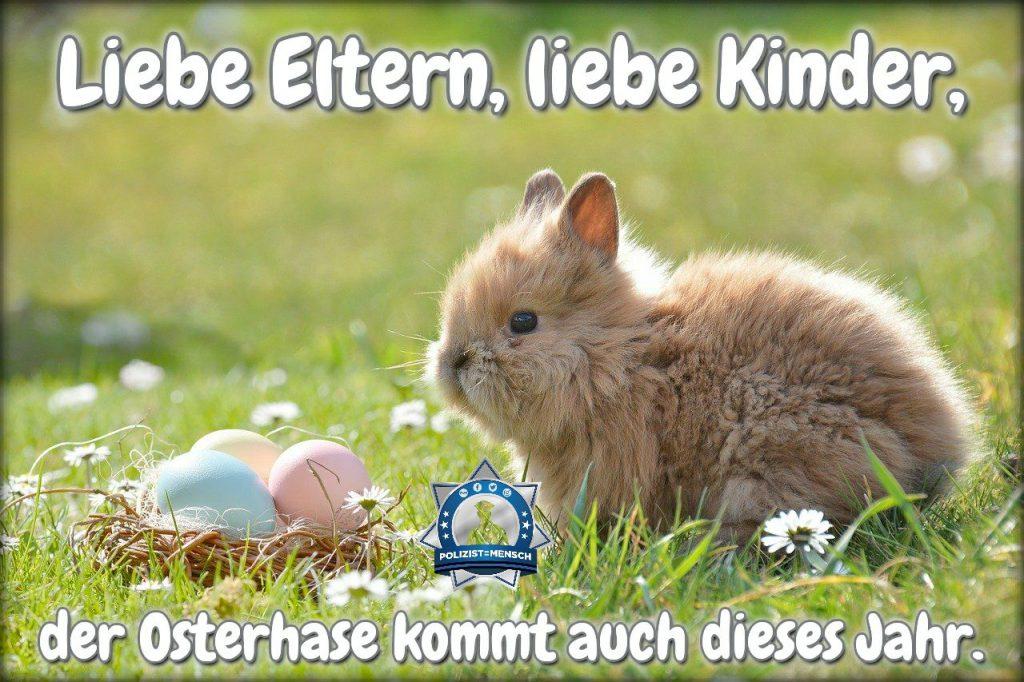 Liebe Eltern, liebe Kinder, der Osterhase kommt auch dieses Jahr