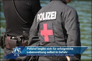 Dramatische Rettungsaktion von Feuerwehr und Polizei: Polizist begibt sich für erfolgreiche Lebensrettung selbst in Gefahr