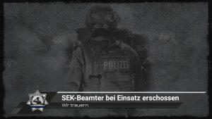 Wir trauern: SEK-Beamter bei Einsatz erschossen