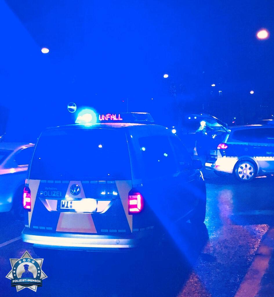 """""""Ruhigen Nachtdienst euch allen und passt auf euch auf. Verkehrspolizei Wiesbaden"""""""