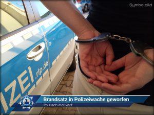 Politisch motiviert: Brandsatz in Polizeiwache geworfen