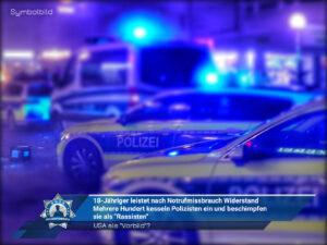 """Mehrere Hundert kesseln Polizisten ein und beschimpfen sie als """"Rassisten"""""""