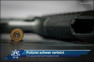 Schusswechsel bei Polizeikontrolle: Polizist schwer verletzt