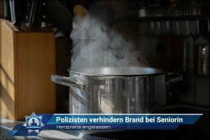 Herdplatte angelassen: Polizisten verhindern Brand bei Seniorin