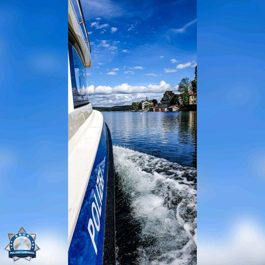 """""""Heute gab es unter passendem bayerischen weiß-blauen Himmel unter anderem ein paar Fischereikontrollen. Liebe Grüße vom Starnberger See, Sara"""""""