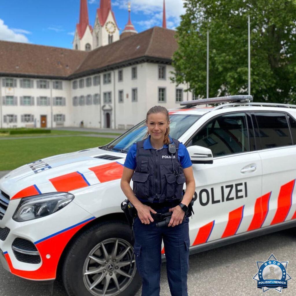 """""""Als Polizistin der Regionalpolizei Muri (Kanton Aargau) gebe ich euch auf Instagram einen Einblick in meinen Polizeialltag. Liebe Grüße aus der Schweiz, Donjeta"""""""