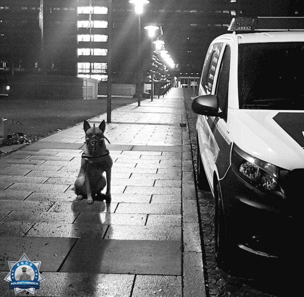 """""""Liebe Grüße von Dualhund Jim und DHF'in Jenny von der Nachtschicht bei der Bundespolizeiinspektion Deutsche Bundesbank!"""""""
