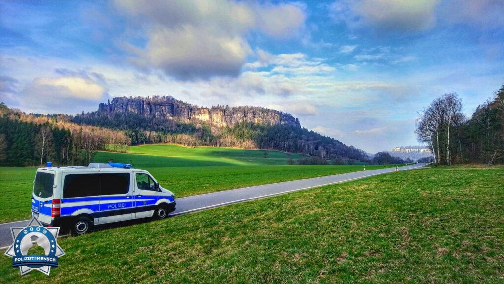 """""""Mit Blick auf den Pfaffenstein und die Festung Königstein senden wir viele Grüße vom Wochenendeinsatz aus der schönen sächsischen Schweiz! Bleibt gesund!"""""""