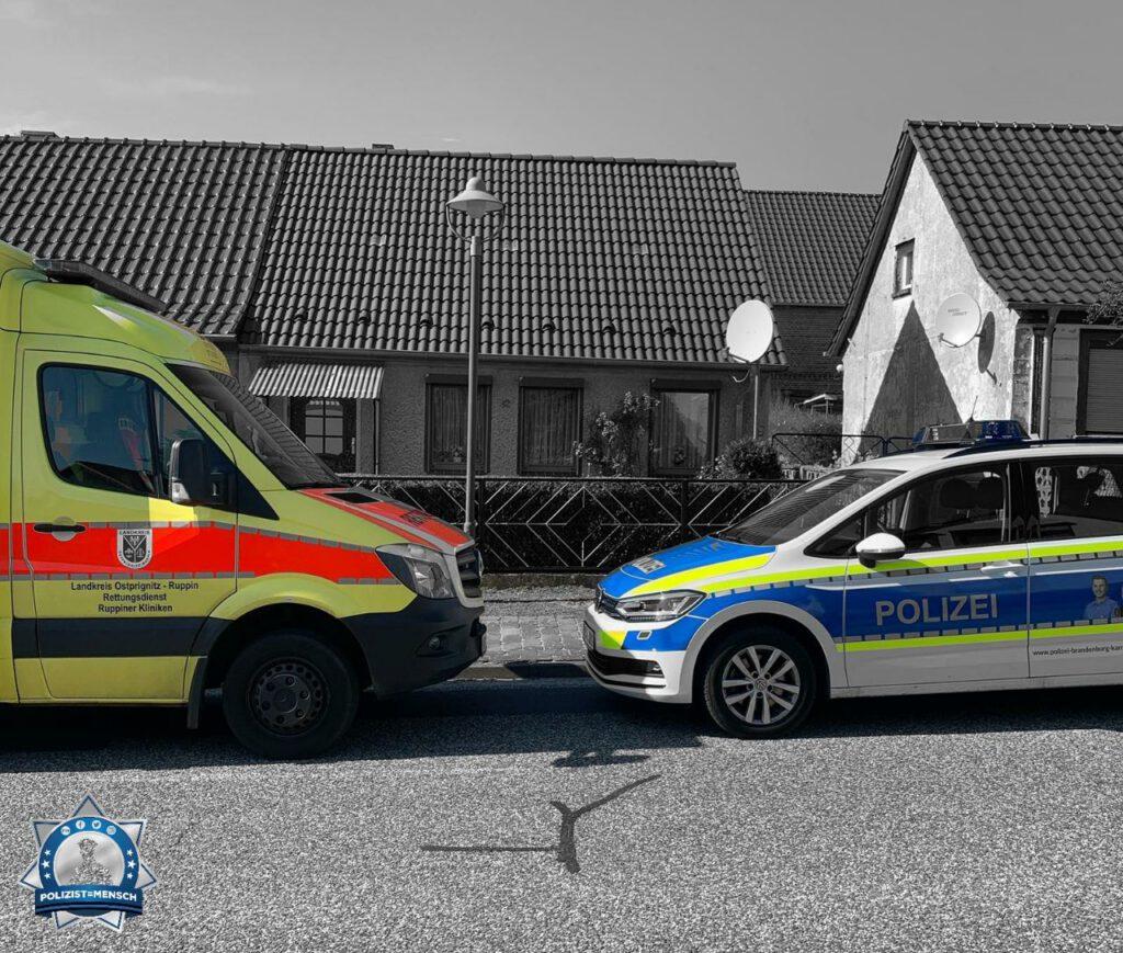 """""""Liebe Grüße aus dem Landkreis Ostprignitz-Ruppin von Eric und Leah und dem Rettungsdienst. Kommt alle gesund nach Hause."""""""