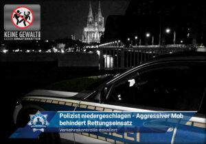Verkehrskontrolle eskaliert: Polizist niedergeschlagen - Aggressiver Mob behindert Rettungseinsatz