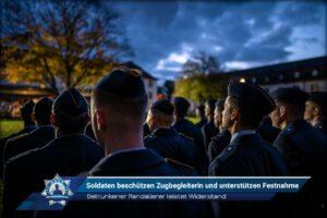 Betrunkener Randalierer leistet Widerstand: Soldaten beschützen Zugbegleiterin und unterstützen Festnahme