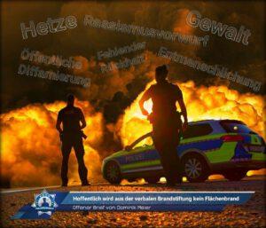 Offener Brief von Dominik Meier: Hoffentlich wird aus der verbalen Brandstiftung kein Flächenbrand