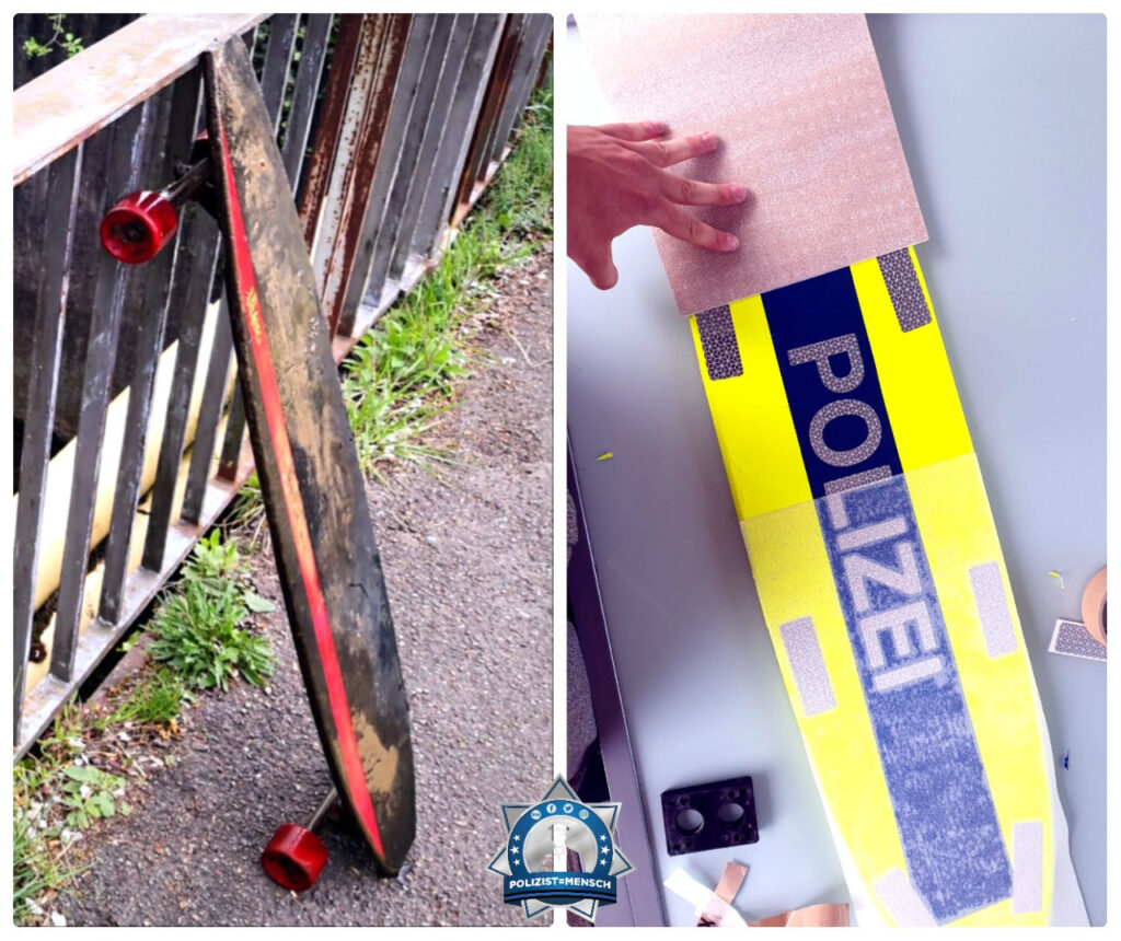 So wurde aus einem weggeworfenem Longboard ein Polizeiboard