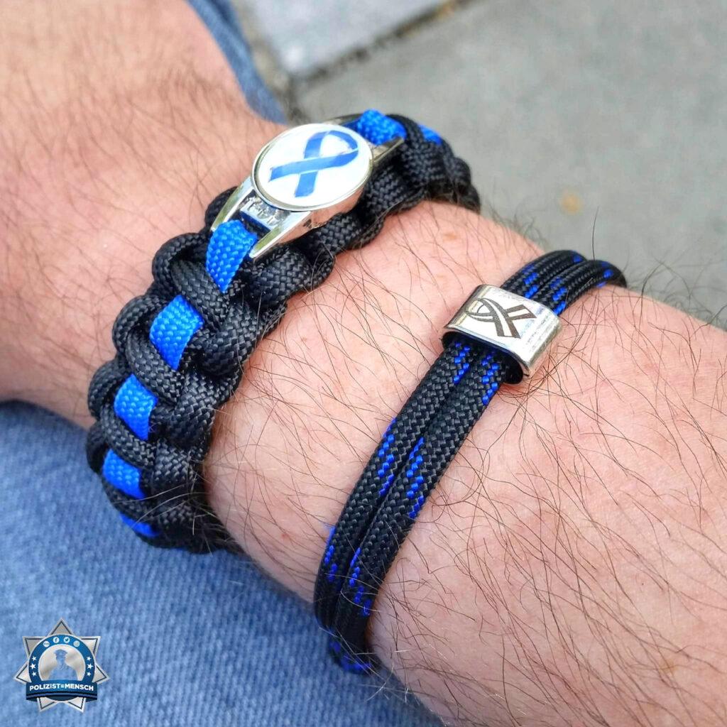 Solidarität zeige ich mit meinem neuen Thin Blue Line-Armband