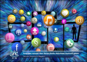 Neues Gesetz in Bayern: Polizisten müssen über Social-Media-Aktivitäten Auskunft geben