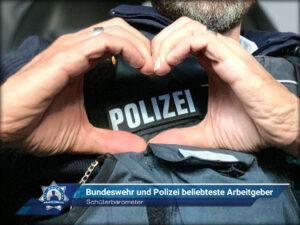 Schülerbarometer: Bundeswehr und Polizei beliebteste Arbeitgeber
