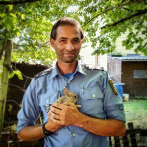 Tierhalter erkrankt: Polizisten kümmern sich um Kaninchen