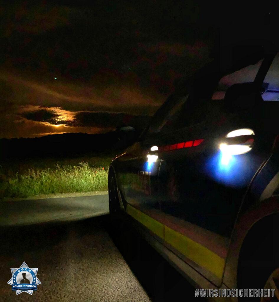 """""""Schöne Grüße von der Verkehrspolizeiinspektion Coburg! Kommt alle gesund nach Hause. Peter und Holger"""""""