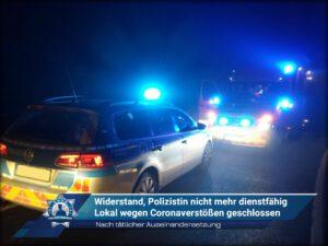 Nach tätlicher Auseinandersetzung: Widerstand, Polizistin nicht mehr dienstfähig