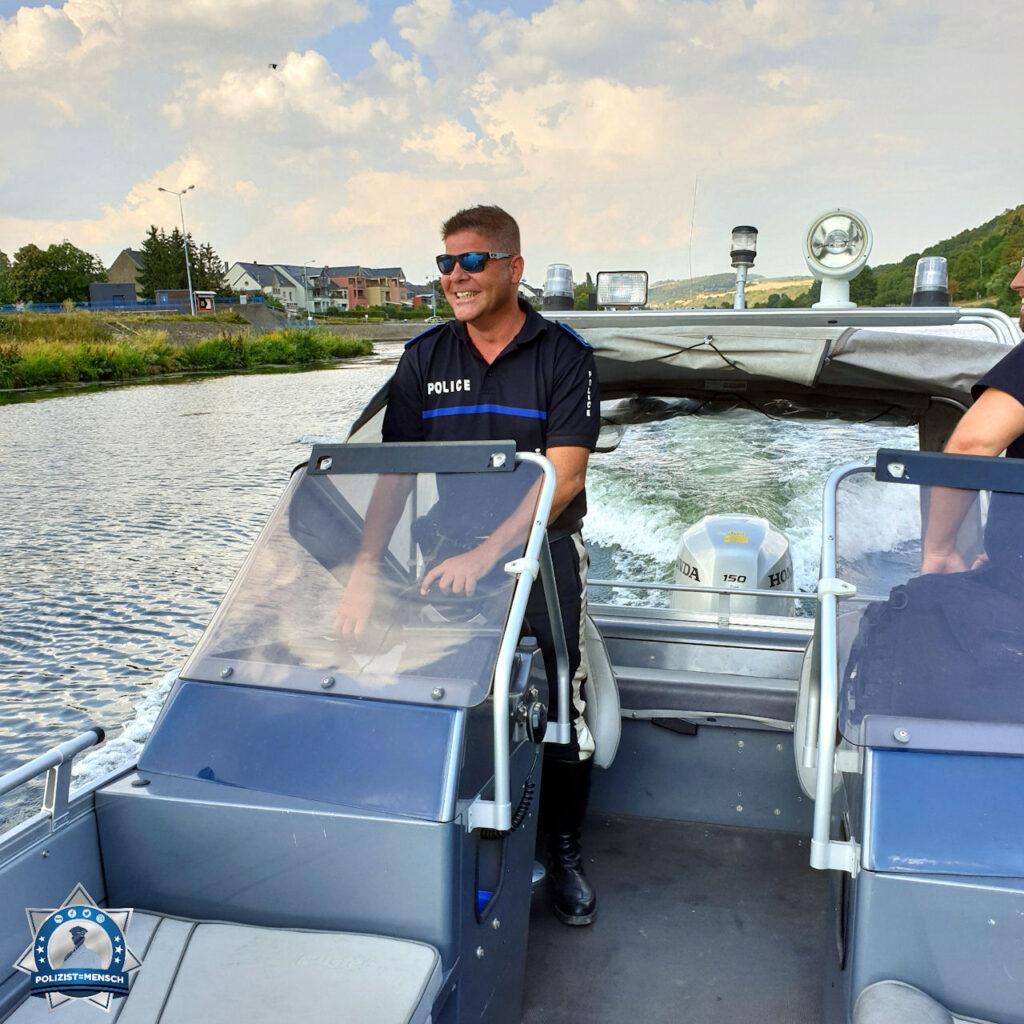 """""""Hallo, Philippe grüßt euch auf Bootspatrouille auf der schönen Mosel in Luxemburg."""""""