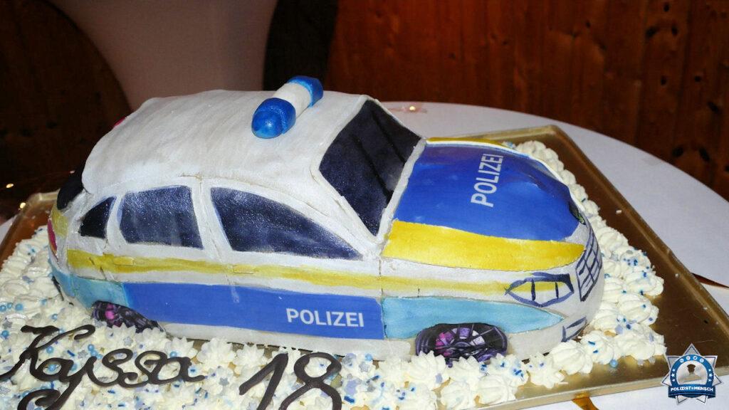 Polizei-Geburtstagstorte zu meinem 18. Geburtstag