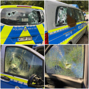 Hinterhältiger Anschlag auf Mannschaftswagen: Linksextreme Gewalttäter unterwandern friedlichen Protest