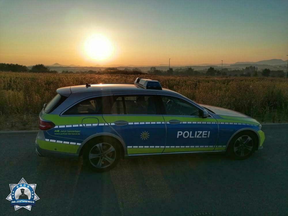 """""""Morgenstimmung... Grüße von den Kollegen/-innen vom Polizeirevier Uhingen (Landkreis Göppingen)."""""""