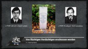 In memoriam: Von flüchtigen Verdächtigen erschossen worden