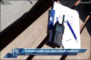 Nazi-Vokabular am Funk: Polizeischüler aus dem Dienst entfernt