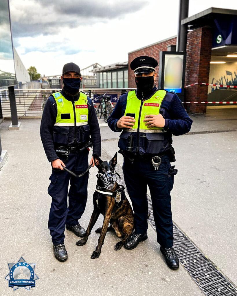 """""""Viele Grüße von der DB-Sicherheit Berlin, hier mit Diensthund Kash, und ein großes Danke an alle die arbeiten um uns einen halbwegs normalen Alltag zu schenken."""""""