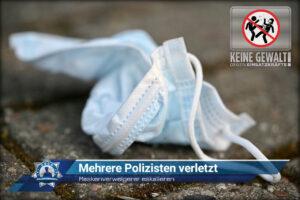 Maskenverweigerer eskalieren: Mehrere Polizisten verletzt