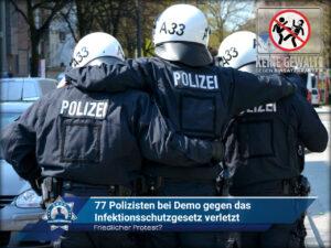 Friedlicher Protest? 77 Polizisten bei Demo gegen <a href=