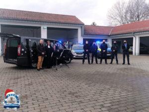 """""""Weihnachten auf Rädern"""" für die Polizisten in Bad Vilbel an Heilig Abend"""