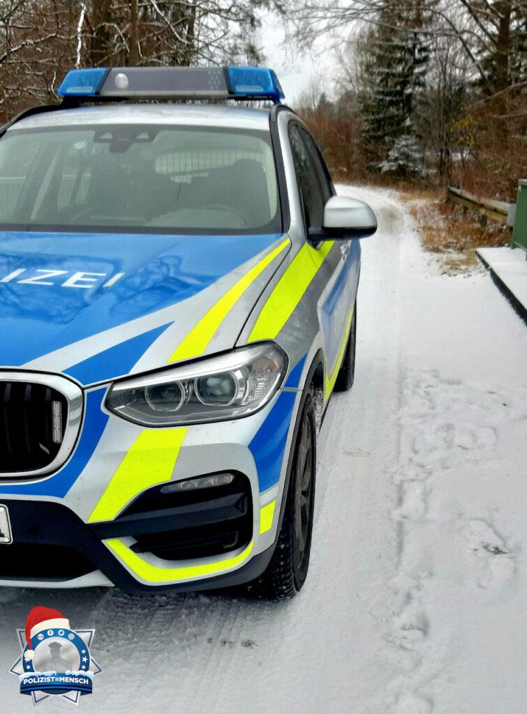 Winterliche Grüße an alle Polizisten