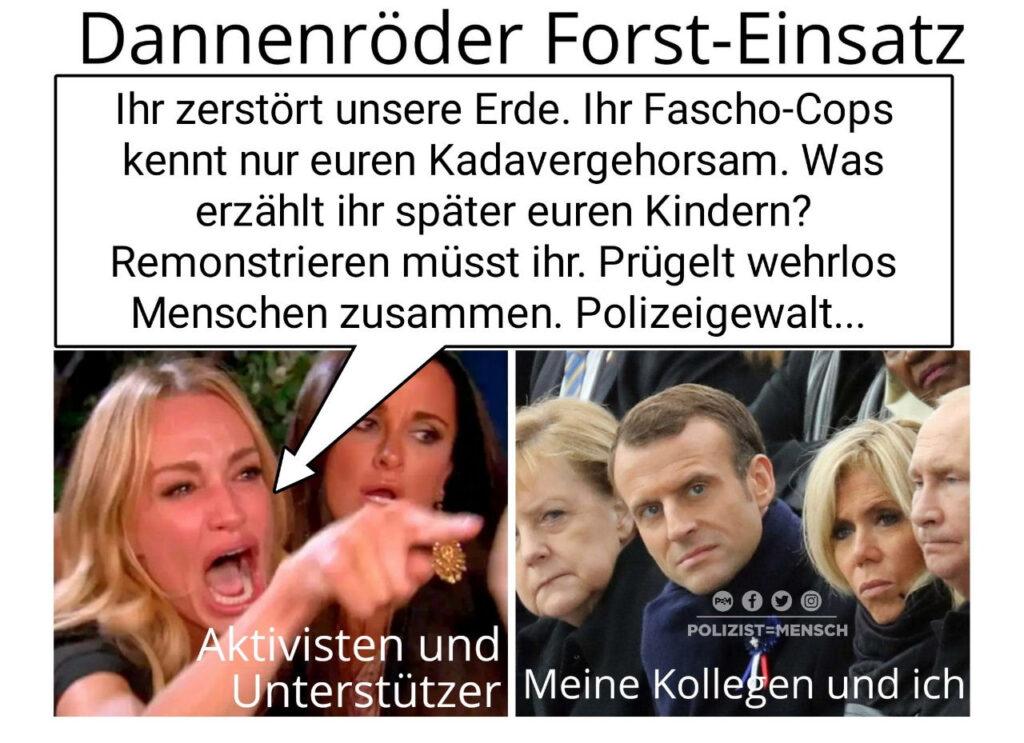 Dannenröder Forst: Originalzitate aus den sozialen Medien