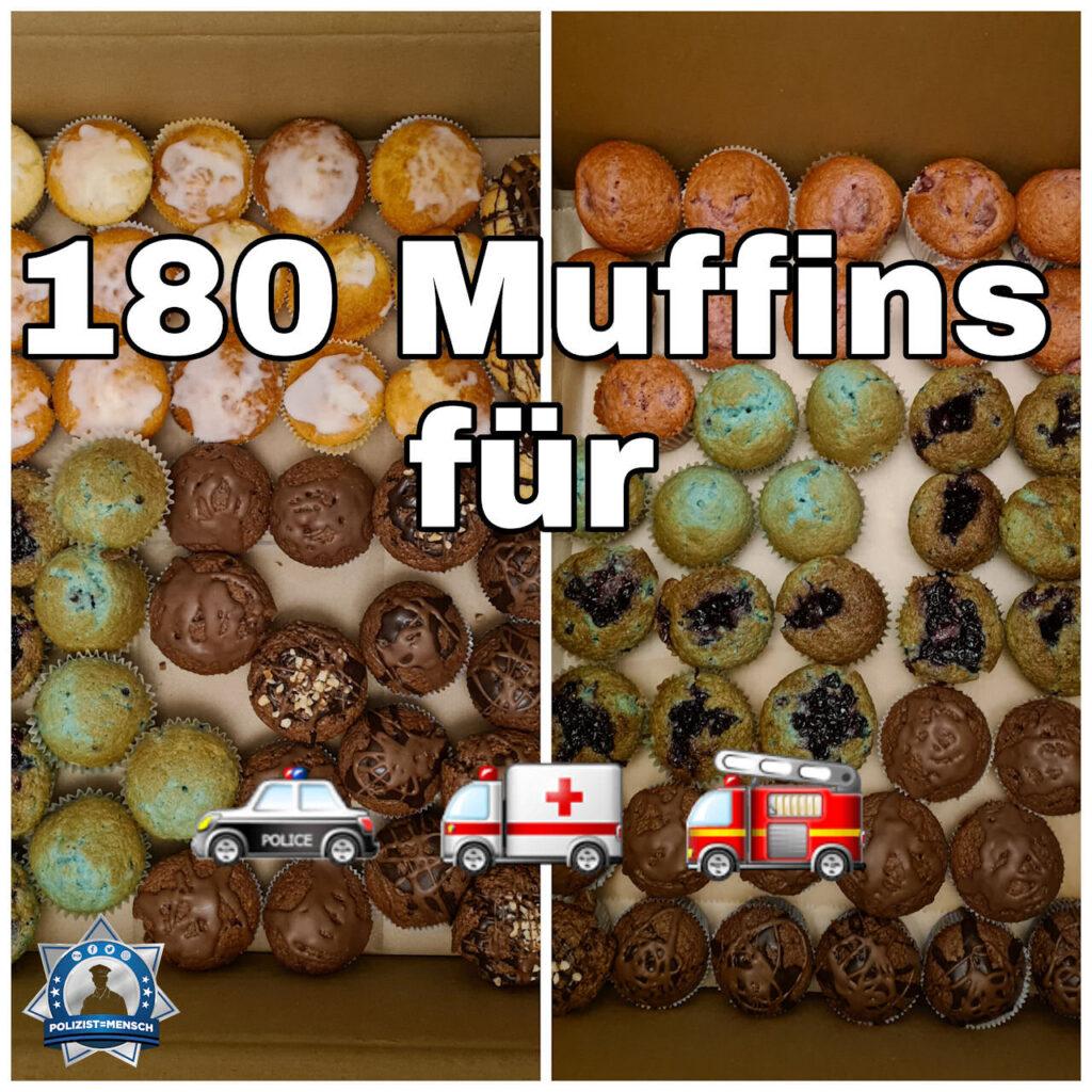 Ein süßes Danke: Muffins für die Blaulichtfamilie