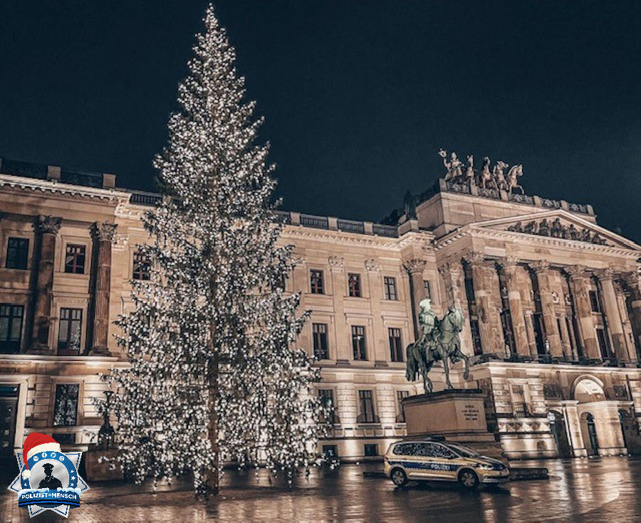 """""""Weihnachtliche Grüße von der Dienstabteilung III aus dem Polizeikommissariat-Mitte der Polizeidirektion Braunschweig"""""""