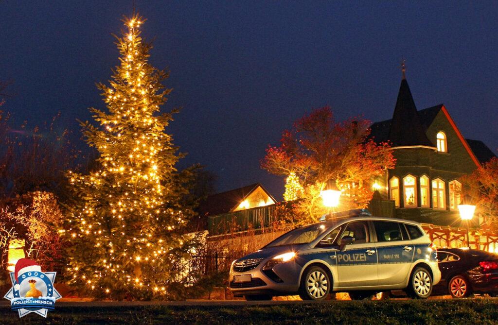 """""""Eine schöne und hoffentlich geruhsame Advents- und Weihnachtszeit wünschen die Kolleginnen und Kollegen der Polizeidirektion Marburg."""""""