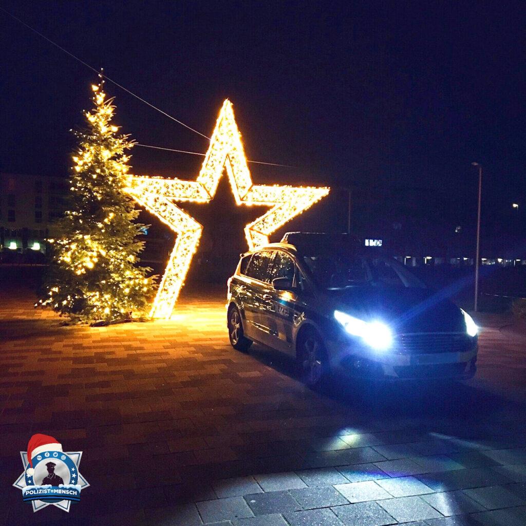 """""""Besinnliche Grüße zur Adventszeit senden Torben und Marie vom Nachtdienst aus Sankt Augustin"""""""