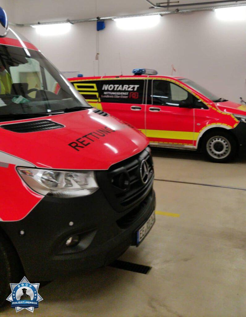 """""""Der Rettungsdienst Elbe-Elster wünscht ein gesundes neues Jahr 2021 und einen ruhigen Dienst für alle da draußen. Sven und Sören"""""""