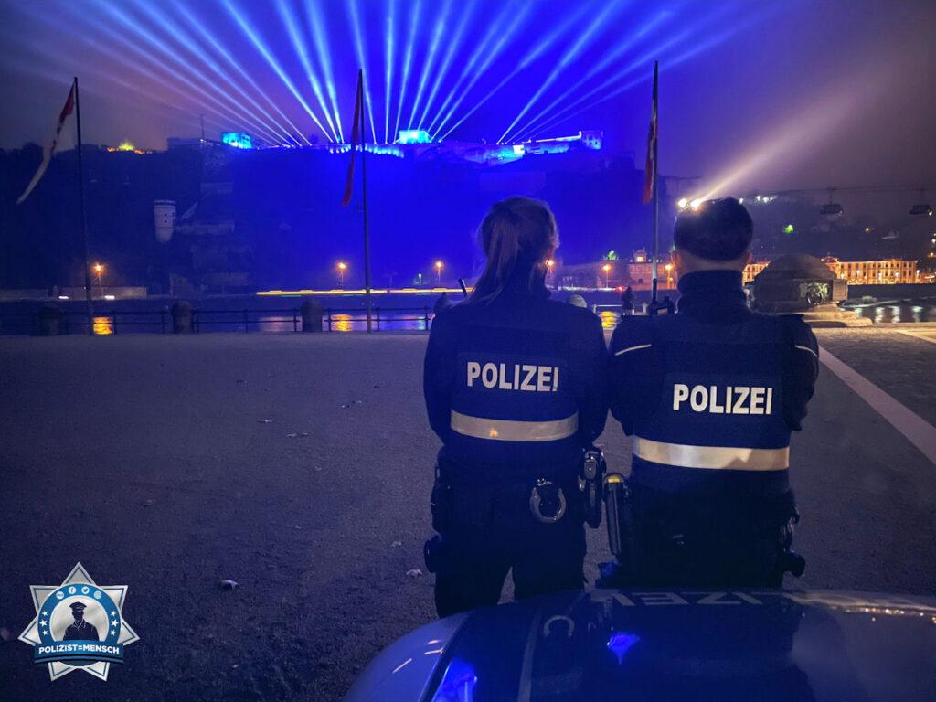 """""""Viele Grüße sendet euch die Polizeiinspektion Koblenz 1. Bleibt gesund und passt auf euch auf! 🙂 Sandra und Pascal"""""""