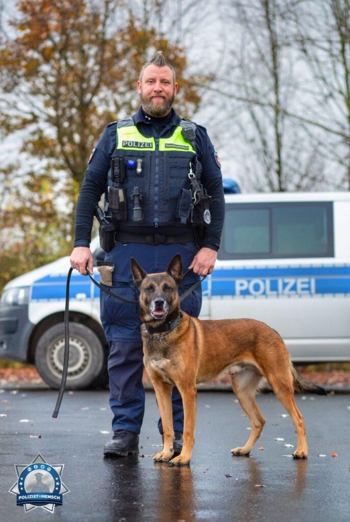 Diensthund Cash von der Polizei Göttingen stellt sich vor